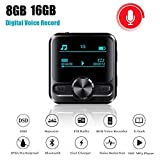 Lyclyb Mini USB Digital Audio Voice Recorder Professionelle OLED-Bildschirm MP3-Player Bluetooth-Radio E-Buch Dictaphone,16g
