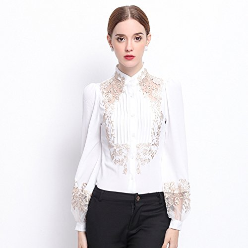 Lady 's Fashion Lounge Mantel, langärmliges Hemd Mantel,weiße,l - Womens Lounge L/s Shirt