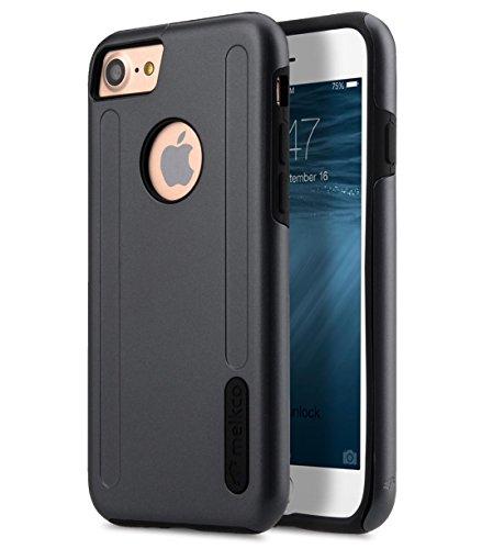 Apple Iphone 7 Melkco Elite-Serie Premium Leder-Snap zurück Tasche Tasche mit Premium-Leder Handgefertigte gute Schutz, Premium Feel-Tan Grau / Schwarz
