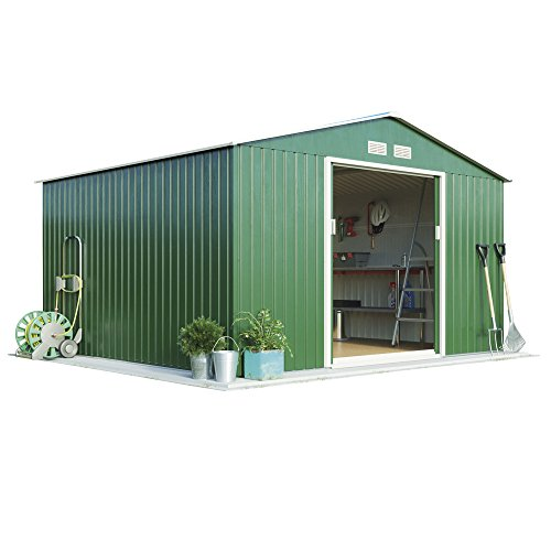 11ft-x-10ft-metal-apex-roof-outdoor-garden-storage-shed-by-waltons-dark-green