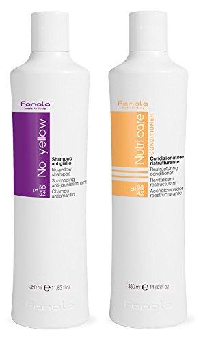 Fanola No Yellow Shampoo 350ml and Nutri Care Conditioner 350ml