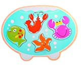 Fish Bowl Shaped Puzzle Wooden Toy