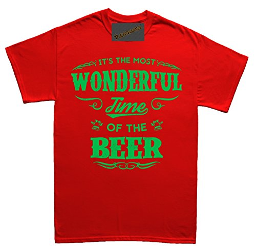 Renowned Its the Most Wonderful Time of the Beer Herren T Shirt Rot