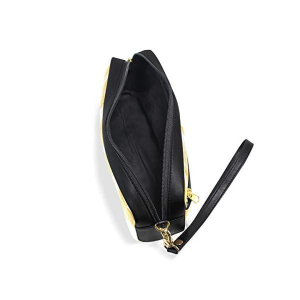 Estuche para lápices con diseño de plumas de color amarillo étnico, gran capacidad, con doble cremallera resistente para…