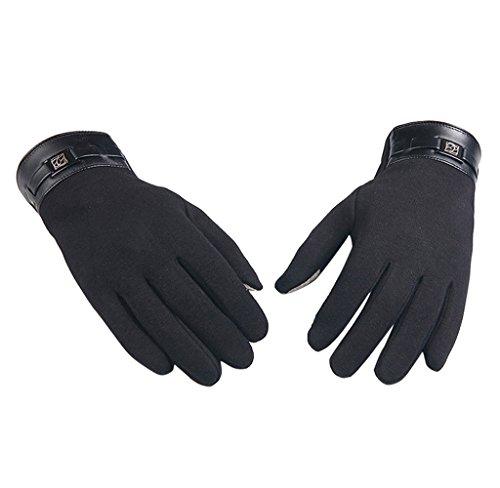 Handschuhe, Herren Winter Vollfinger Touchscreen Kaschmir Handschuhe Handschuhe von Dragon868 (Schwarz) (Schwarz 60er Jahre Leder)
