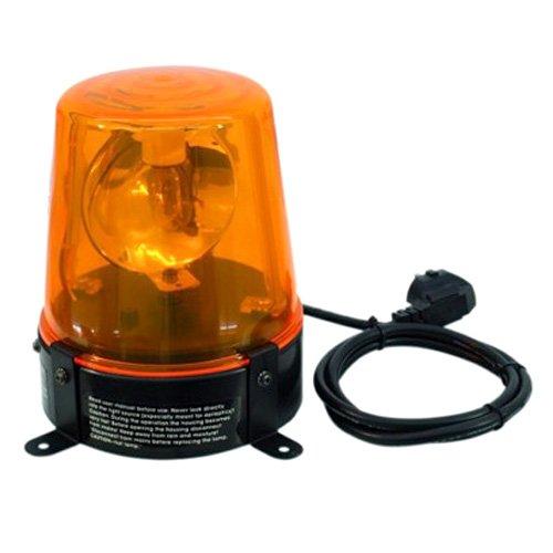 EUROLITE Polizeilicht DE-1 gelb | Klassische Rundumleuchte inklusive 230 Volt/18W-Lampe -