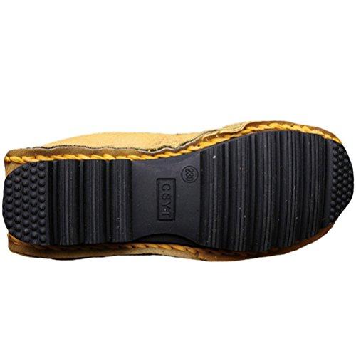 Vogstyle Donna Nuove Scarpe Stringate Basse In Pelle Stile-5 Giallo 35