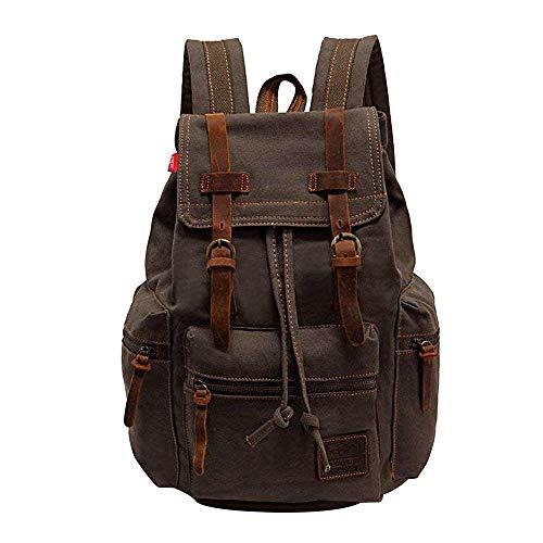 AUGUR Vintage Rucksack Herren Laptoprucksack 15.6 Zoll Rucksäcke Daypacks Schulrucksack