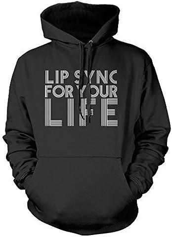 Lip Sync For Your Life - Unisex Hoodie - ru paul drag race lip sync drag queen ru paul's drag race gifts - M black