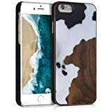 kwmobile Coque Apple iPhone 6 / 6S - Étui de Protection Rigide en Bois pour Apple...