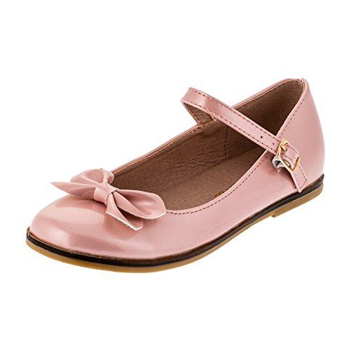 Festliche Kinder Mädchen Ballerinas Schuhe für Partys und Freizeit in vielen Farben M297rs Rosa Gr.31 (Rosa Ballerinas)