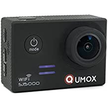 QUMOX Original SJ5000 WIFI - Cámara de Deporte para casco Impermeable, Video de Alta definición 1080p Full-HD de 2.0 pulgadas 2'' 170 ° Lente Submarino HD impermeabilizan la videocámara DVR, Color Negra