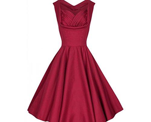 YCMDM Femmes Été Rétro Rétrécir la poitrine Réparer Waist Lapel Slim Skirt Dress wine red