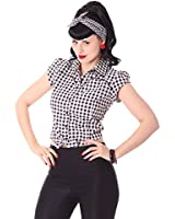 sugarshock 50s pinup retro rockabilly carmen bluse gypsy puff rmel shirt bekleidung. Black Bedroom Furniture Sets. Home Design Ideas