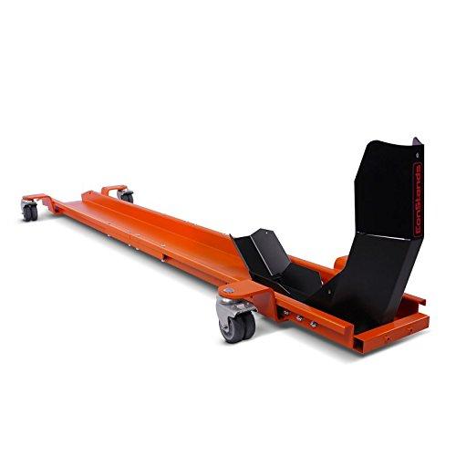 Peana Aparcamiento Moto con calzo de rueda para BMW R NineT Scrambler ConStands Smart Mover, max. 450 kg, naranjna