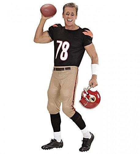 Kostüm Fußball Halloween Spieler - shoperama Herren Kostüm American Football Player Shirt und Hose mit Polstern Quaterback Sportler Spieler, Größe:L