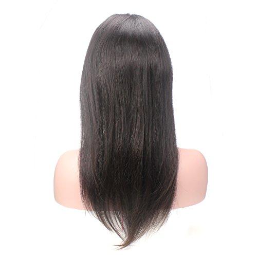 Lordhair ® Full Lace Wig 16 Pouces 100% Cheveux Silky de Raides Vierge Chinois Medium Marron Perruque