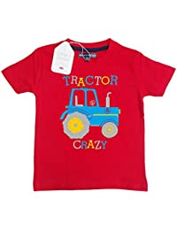 Edward Sinclair Childrens T-Shirt Tractor Crazy - Boys Birthday Gift, Love Tractors!
