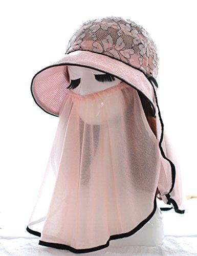 été Mme de plein air Anti-UV chapeau de soleil pliable Sunscreen chapeau d'été mode Big chapeau à bord ( couleur : 1 ) 2