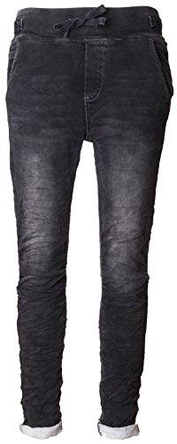 Basic.de Cotton Stretch-Hose im Jogging-Pant Style Jeans-Stoff Anthrazit XL - Stretch Hose, Stoff