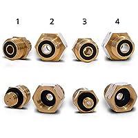PELMOS Gas Botella Adaptador I Euro Botellas minicontrolador (4Piezas) I Transición para el Conector de Controles de presión en Todas Las Botellas de Gas I Premium Calidad Europea