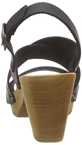 SanitaOlympia Square Flex Sandal - Sandali aperti Donna Nero (Schwarz (Black 2))