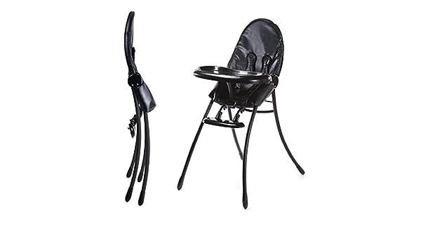 Nano Urban Highchair Matt Black Frame w Midnight Black by
