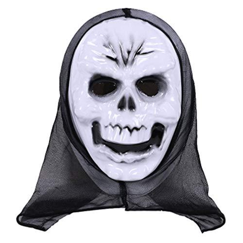 Ballylelly-Maske Funny Kostüm Adult Kostüm Zubehör Adult Horror Gesichtsmaske Party Cosplay Vollmaske (weiß - White Ghost King) von Ballylyly (Adult Funny Ghost Kostüm)