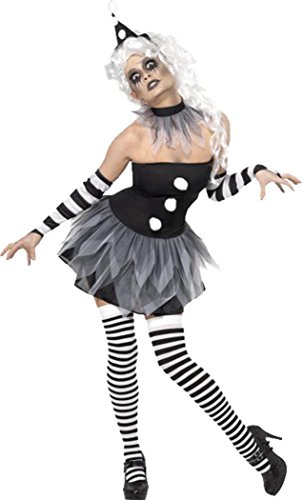 y Kleid Party Outfit weiblich Sinister Pierrot Kostüm (Pierrot Kostüme)