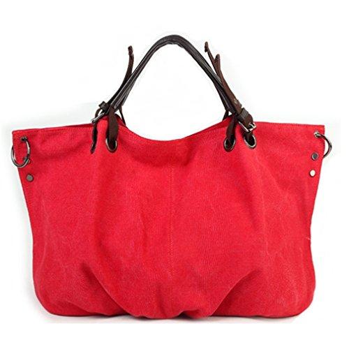 Oumizhi® Borsa Da Donna In Tela / Tracolla Regolabile Con Cinghie Blu Rosso