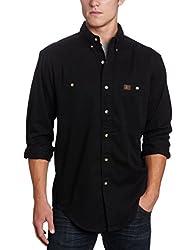 Wrangler Mens Logger Shirt,Black,XX-Large/Regular