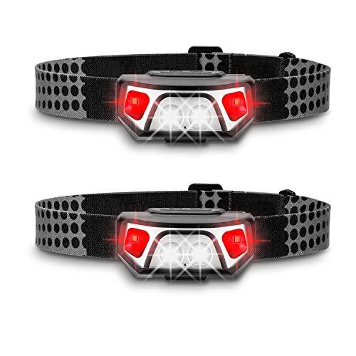 ZIYOUREN Wiederaufladbare LED Stirnlampe Kopflampe, 200 Lumen Sehr hell, Wasserdicht Leichtgewichts stirnlampen Perfekt fürs Laufen, Joggen, Angeln, Campen, für Kinder und mehr, inklusive USB Kabel