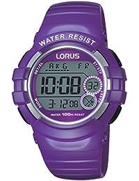 Lorus Watches - R2323KX9 - Montre Femme - Quartz Digitale - Chronomètre/Alarme/Fuseaux horaires - Bracelet Caoutchouc violet