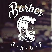 Barbers Shop Gentlemen Salon Vinyl Sign Hairdressers Hair Window Lettering Glass Sticker