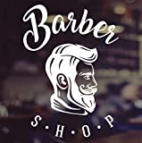 Barber Shop Barbieri Negozio Signori Vinile Segno Parrucchieri Finestra per Capelli Lettering Adesivo in Vetro Segno di Finestra Vinile Sticker Grafica Cafe Shop Salon Bar Ristorante