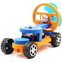 Coche de energía eólica, juguetes educativos de bricolaje kit de experimentos de ciencia eléctrica física modelo de coche diy juguetes para niños en edad preescolar