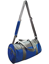 Foldable Soft Polyester Travel Duffel, Gym Bag With Deep Side Pocket - Blue