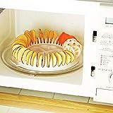 prettygood7 DIY gesund geeignet für Mikrowellenöfen Kartoffel Apfel Crisp Chips Schneide Platte Küche Werkzeug