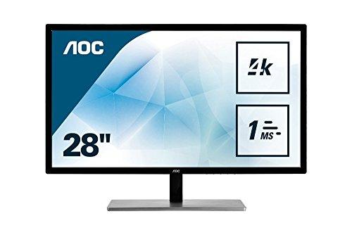 Woxter Monitores U2879VF Monitor (Auflösung 3840 x 2160 Pixel, WLED-Technologie, Kontrast 1000:1, 1 ms, HDMI) Silber/schwarz