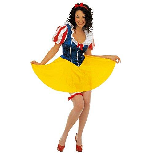 Schneewittchen Kostüm Märchen Prinzessin Kleid S 34/36 Prinzessinkleid Damen Märchenkostüm Prinzessinnen Faschingskostüm Snow White Karnevalskostüm Disney Mottoparty Verkleidung Karneval Kostüme