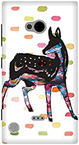 The Racoon Lean Oh Deer hard plastic printed back case / cover for Nokia Lumia 720