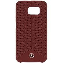 Mercedes-Benz Mehcs6Pere Pura Línea De Cuero Perforado Samsung Galaxy S6 Roja