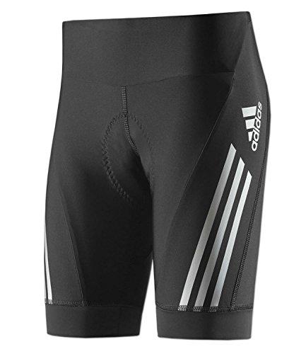 adidas Damen Supernova Radhose Cycling Tight Fahrrad Short (schwarz-silber, M)