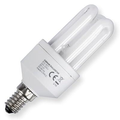Osram 63236 Duluxstar 8 W/825, entspricht 40 Watt, Sockel E14 Energiesparlampen in Röhrenform, warmweiß von Osram auf Lampenhans.de