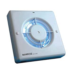 "Manrose QF100T Quiet Extractor Fan with Timer for 4""/100mm Duct"