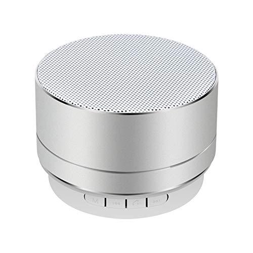 Wireless Bluetooth Speaker Phone Notebook Mini Cannon Wireless Card AudioA10-Silver Grey
