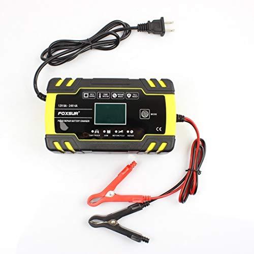 Accessori per moto 12V-24V Moto Auto Moto Camion Riparazione Battery Charger AGM Caricabatteria, spina BRITANNICA (Colore : Color2)