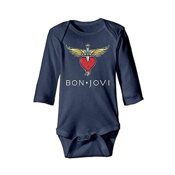 Bon Jovi Classic Logo Long Sleeve Baby Bodysuits 1