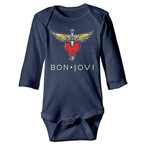 But why miss Bon Jovi Classic Logo Long Sleeve Baby Bodysuits 18Months Carters Body Onesies