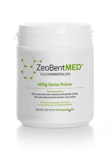 Zeobent MED Detox-Pulver 400g, 1er Pack (1 x 400 g)